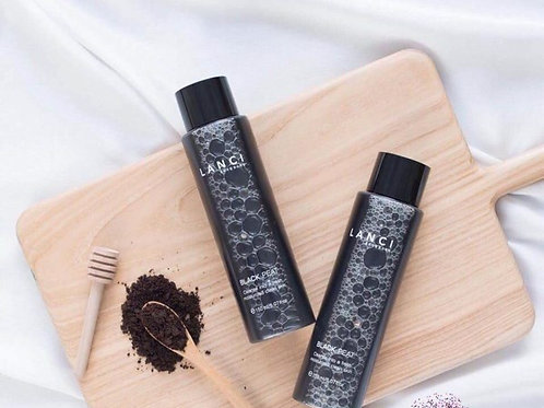 Korean Lanci Black Peat makeup remover from activated carbon