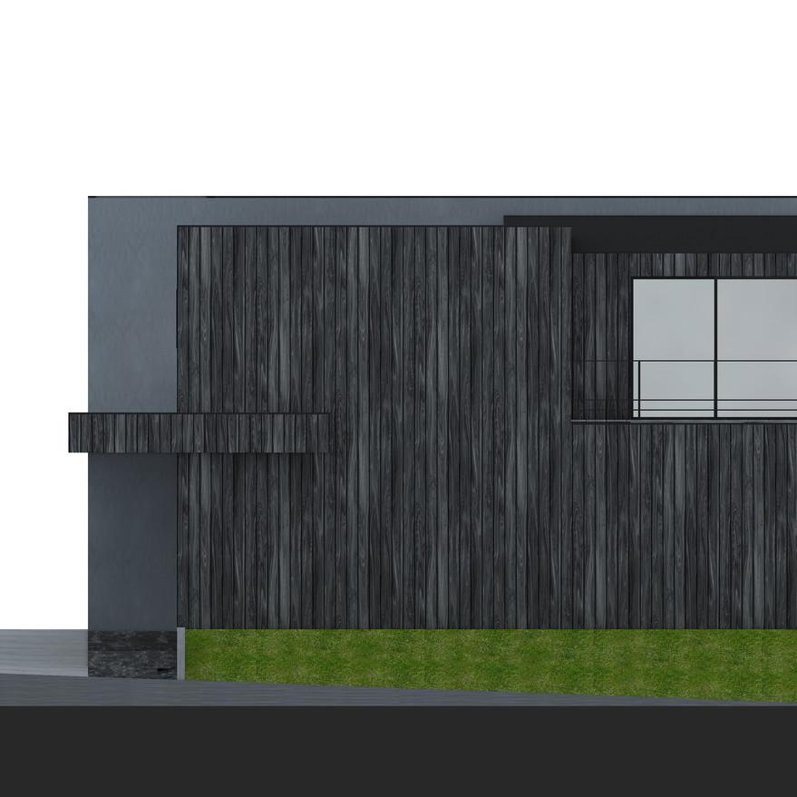 HOUSE-Y CG 西側外観パース