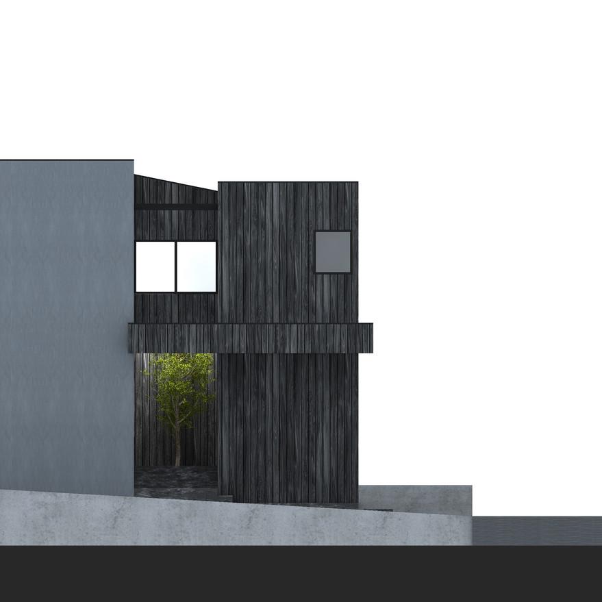 HOUSE-Y CG 北側外観パース