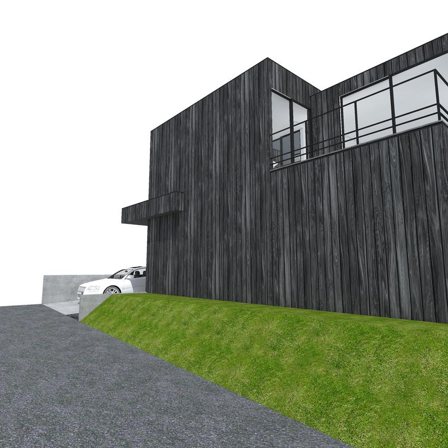 HOUSE-Y CG 外観パース ファサード