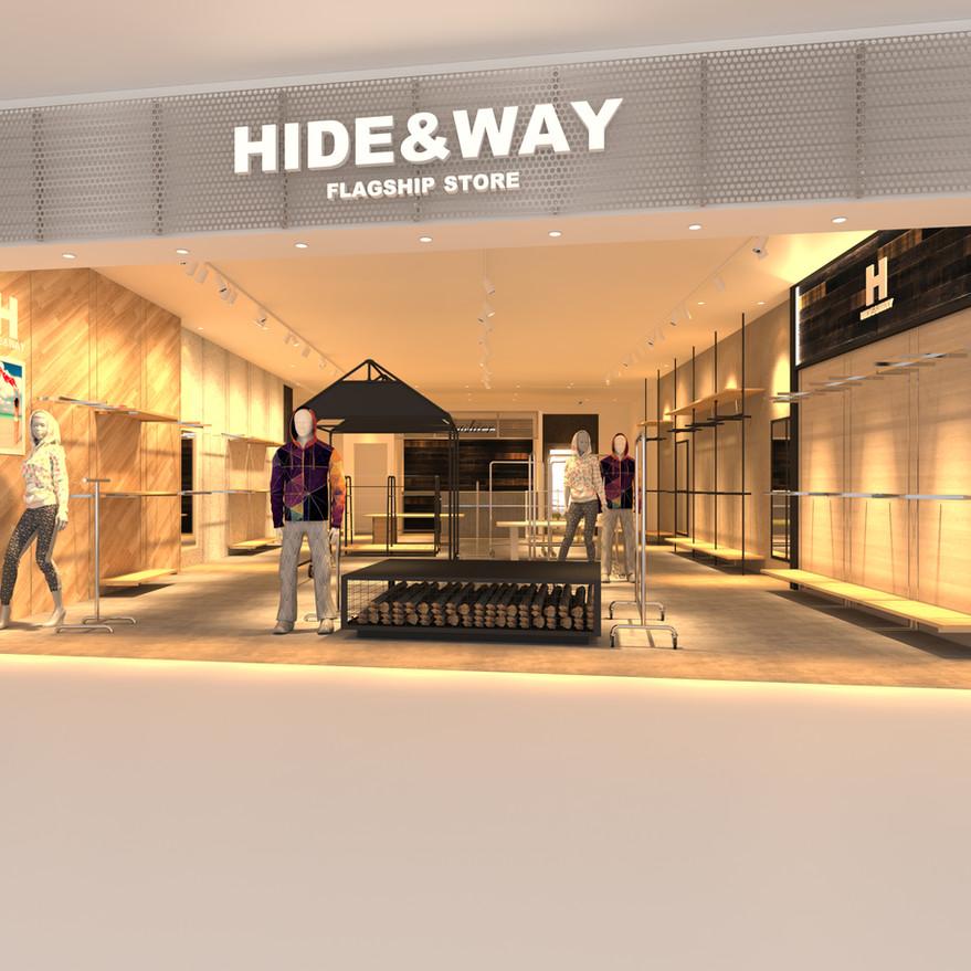 HIDE&WAY CG ファサードデザイン