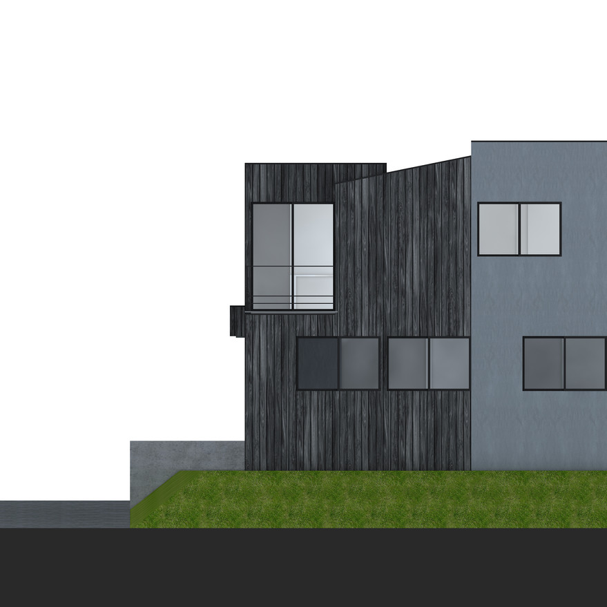 HOUSE-Y CG 南側外観パース