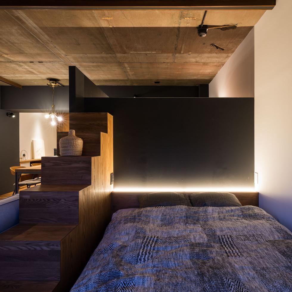 Reno-T 夜景 ベッドルーム
