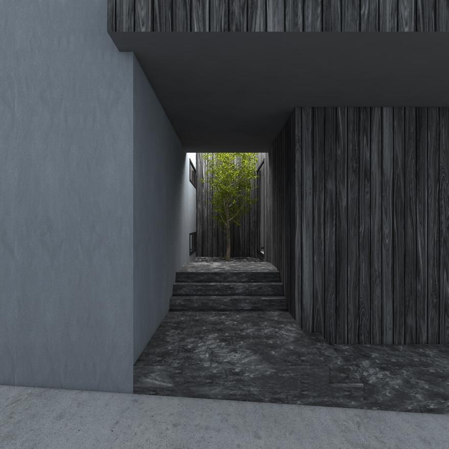 HOUSE-Y CG 外観パース エントランス