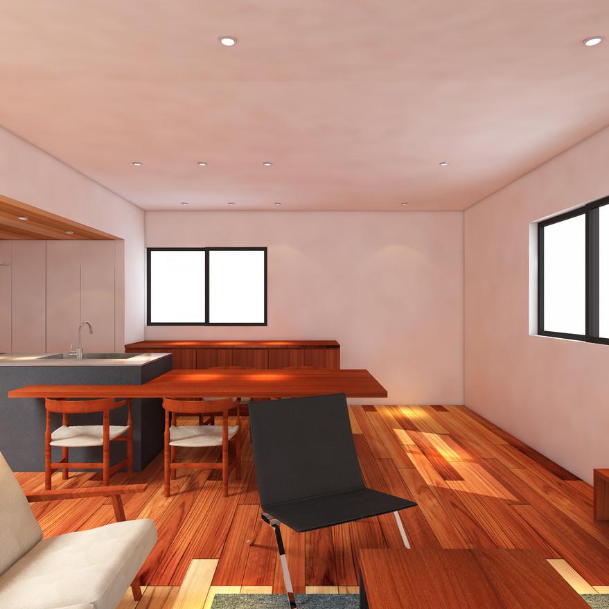 HOUSE-Y CG 内観パース リビング