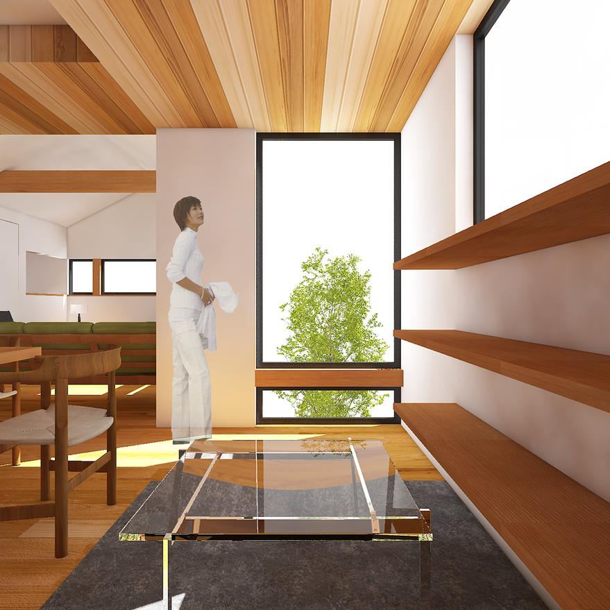 HOUSE-TSU CG 内観パース カフェスペース