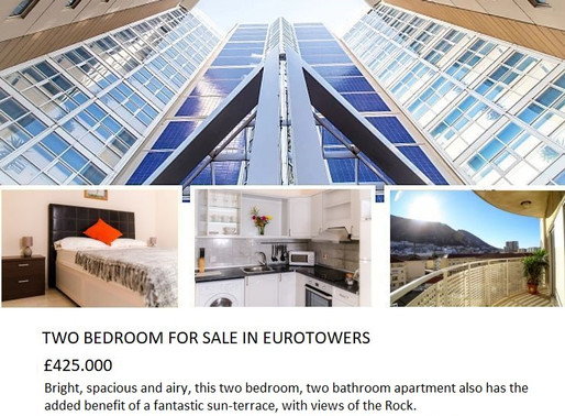 Two Bedroom For Sale in Eurotowers