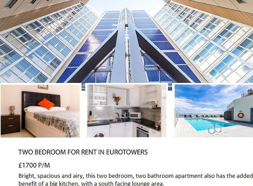 Two Bedroom For Rent In Eurotowers!
