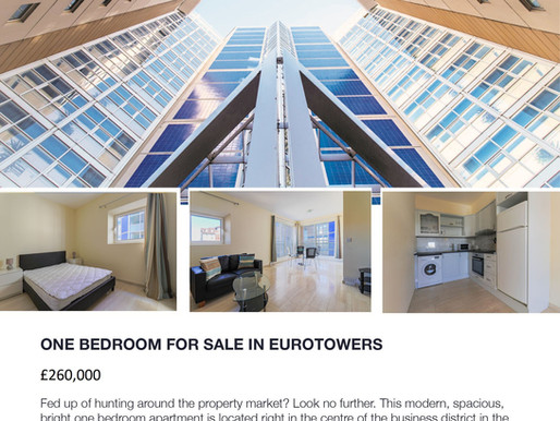 One Bedroom Apartment For Sale In Eurotowers!