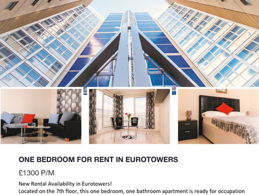 One Bedroom For Rent In Eurotowers!