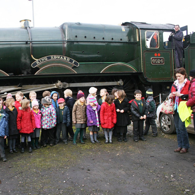Educational visit at Yeovil Steam Centre