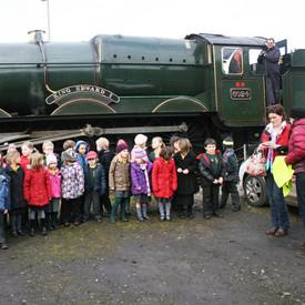 Educational visit at Yeovil Steam Centre