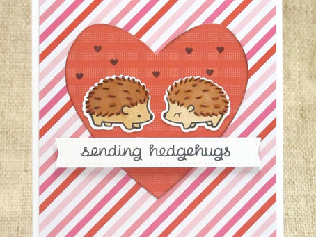 Sending Hedgehugs Valentine Card