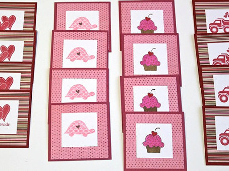Kids Valentines 3x3 Cards
