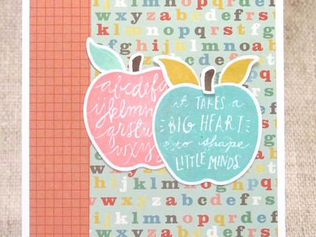 Teacher Apples Card