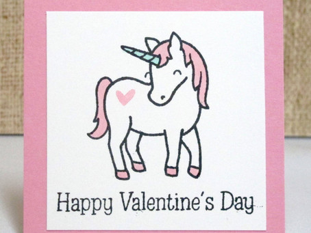 Unicorn Kids Valentines Cards
