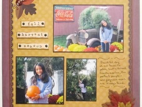 Scrapbook Sunday: Fall Harvest Season