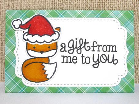 Foxy Santa Gift Card Holder