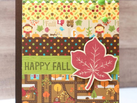 Happy Fall Leaf Card