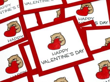 Bear Valentines Kids Card