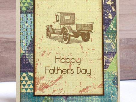 Pick Up Truck Dad Card