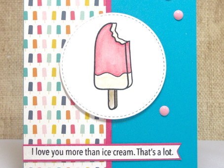 Love You More Than Ice Cream Card