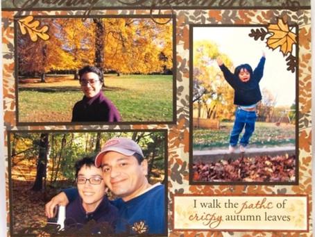 Scrapbook Sunday: Family Autumn