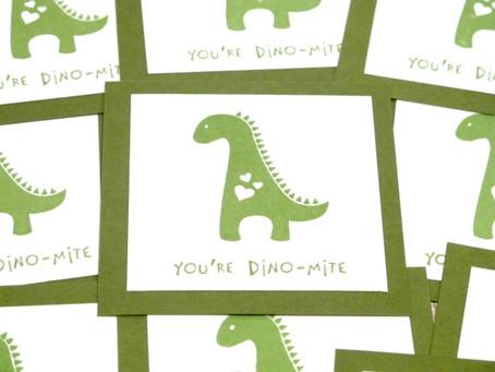 Dino-mite Kids Valentine Cards