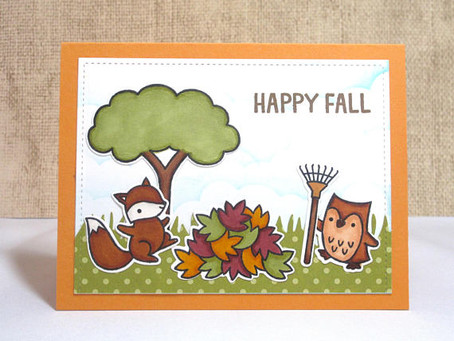 Happy Fall Critters Scene