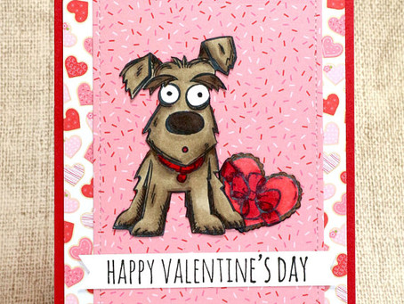 Dog Valentine Card