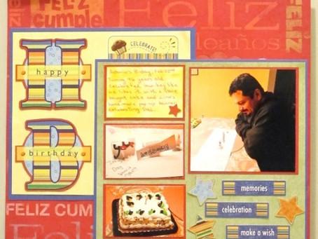 Scrapbook Sunday: Happy Birthday Page