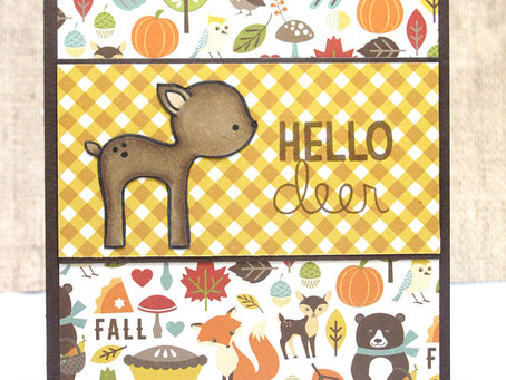 Hello Deer Fall Card