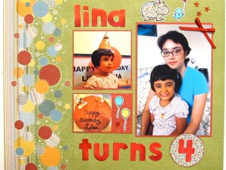 Scrapbook Sunday: Lina Turns 4