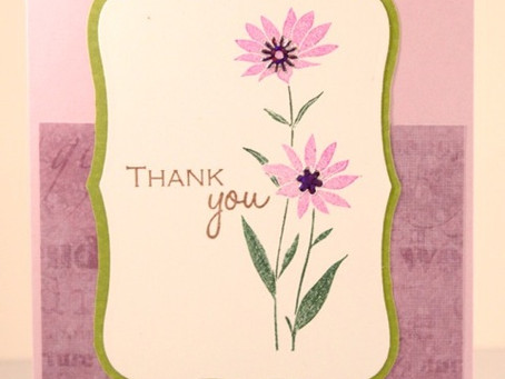 Stamp TV Bling Challenge: Thank You Card