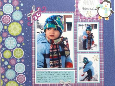 Scrapbook Sunday: Snow Adorable