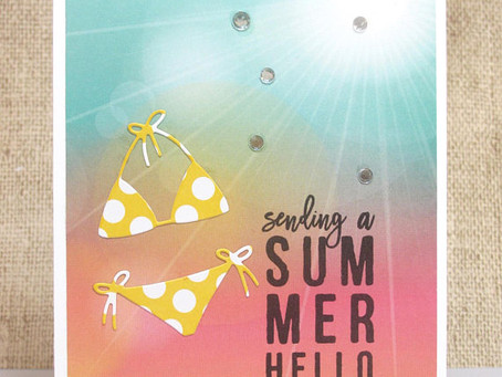 Summer Hello Bikini Card