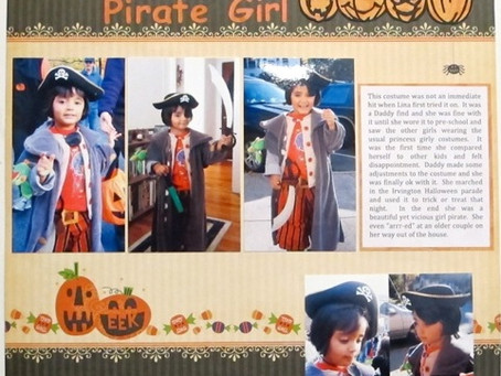 Scrapbook Sunday: Halloween Pirate Girl
