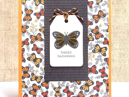 Butterfly Halloween Card