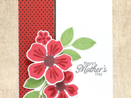 Mother's Day Red Flowers Card