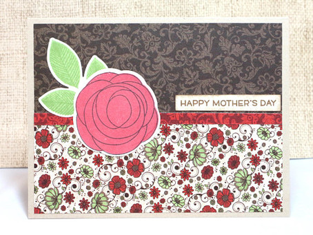 Rose Mother's Day Card