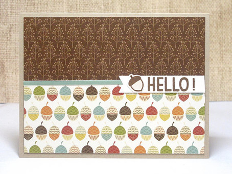Simple Fall Hello Card