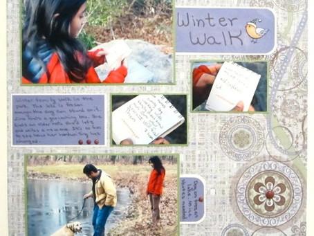 Scrapbook Sunday: Winter Walk