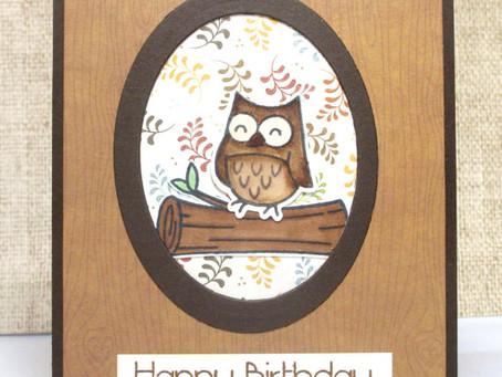 Birthday Fall Owl Card