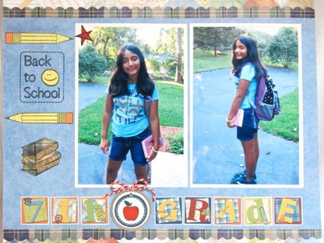 Scrapbook Sunday: 7th Grade