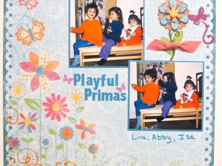 Scrapbook Sunday: Playful Primas