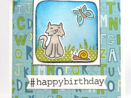 Hashtag Happy Birthday Card