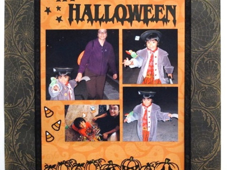 Scrapbook Sunday: Halloween Pirate Girl Part 2