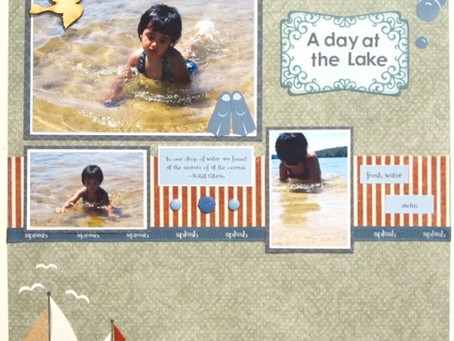 Scrapbook Sunday: A Day at the Lake