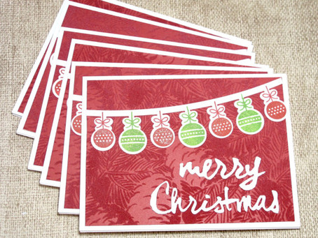 Christmas Ornaments Banner Card Set