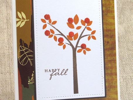 Happy Fall Tree Card